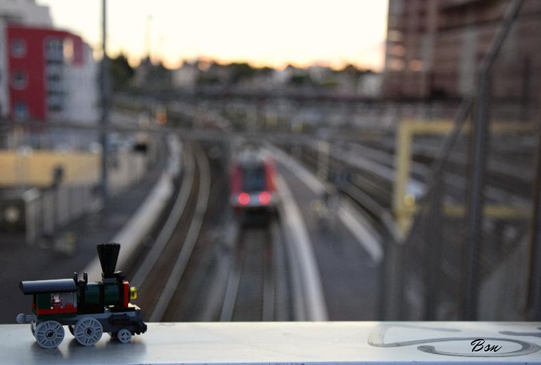 Photo Le petit train visite Montpellier
