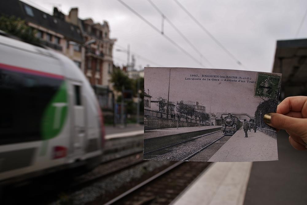 Photo Le train à travers le temps